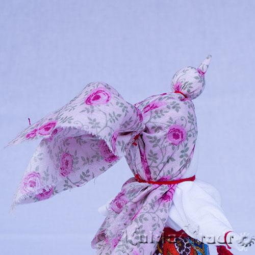 Кукла Птица Радость, особенность головного убора