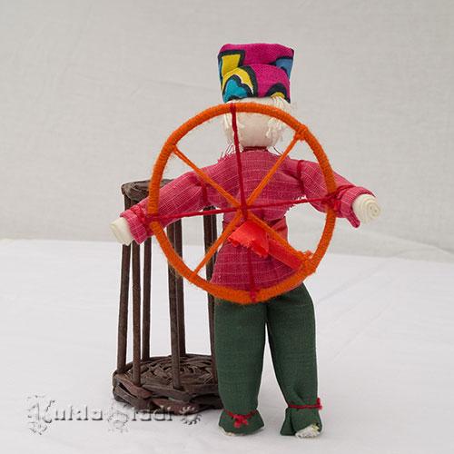 Традиционная тряпичная кукла Спиридон-Солнцеворот
