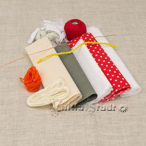 Материалы для изготовления куклы Спиридон-Солнцеворот