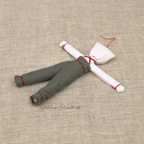 Мастер класс куклы Спиридон-Солнцеворот, этап 18