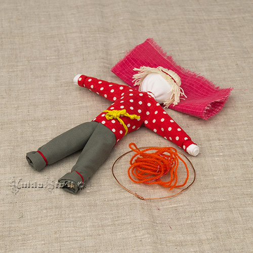 Мастер класс куклы Спиридон-Солнцеворот, этап 23