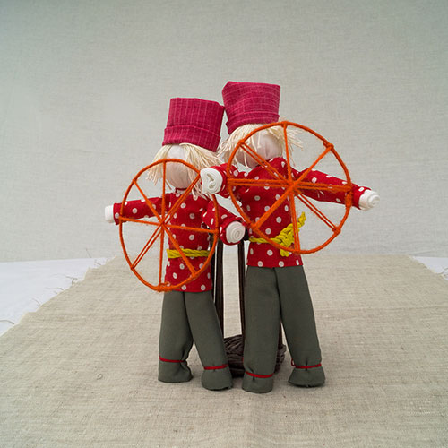 Мастер класс куклы Спиридон-Солнцеворот, этап 25